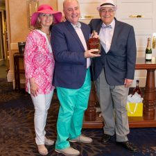 Men's Best Dressed 1st Place Winner Rick Davis with Kathy Bajus and Bob Madonna