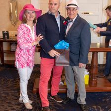 Men's Best Dressed 3rd Place Winner Gabby Roe with Kathy Bajus and Bob Madonna