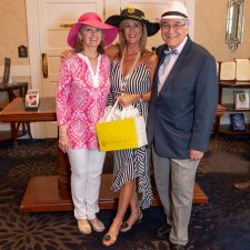 Women's Best Dressed 1st Place Winner Carol Falkenberg with Kathy Bajus and Bob Madonna