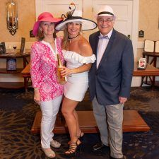 Women's Best Dressed 3rd Place Winner Meghan Thorburn with Kathy Bajus and Bob Madonna