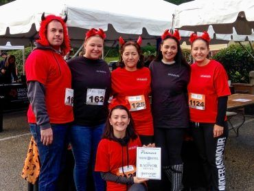 The Radnor Red Racers at the 41st Annual Penn Medicine Radnor Run