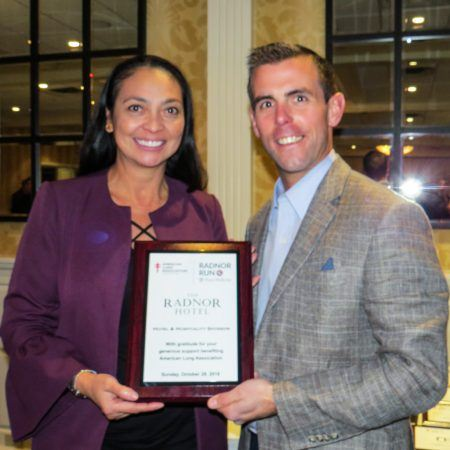 Anita Sayers, VP of Marketing & PR for The Radnor Hotel, with Dan Green, VP of Development for the American Lung Association
