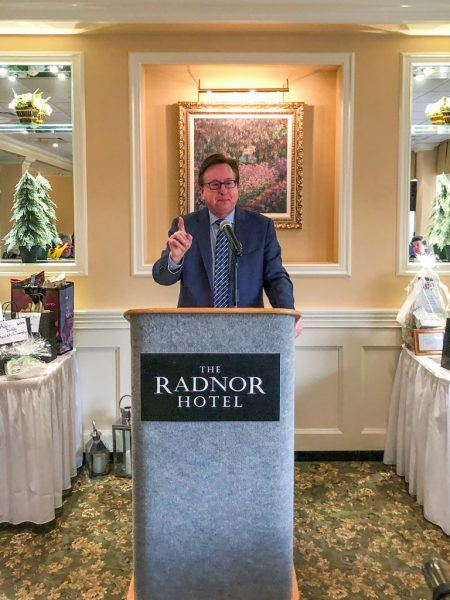 The Delaware County Press Club's Holiday Luncheon guest speaker, Steve Highsmith