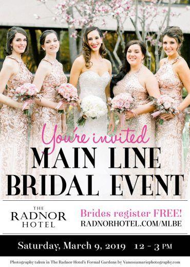 Main Line Bridal Event at The Radnor Hotel 2019