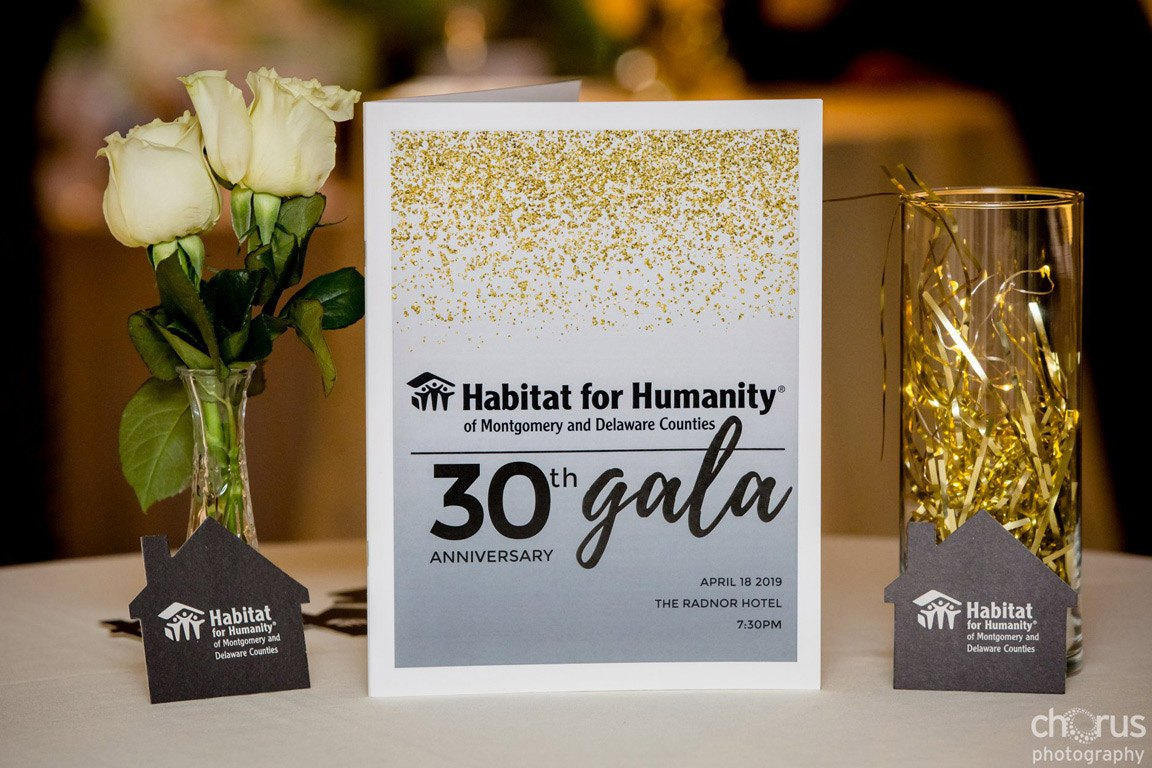 Habitat for Humanity of Montgomery and Delaware Counties 30th Anniversary Gala at The Radnor