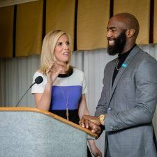 Rosemary Connors and Malcolm Jenkins at the Habitat for Humanity of Montgomery and Delaware Counties 30th Anniversary Gala at The Radnor